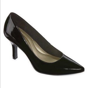 East 5th Shoes - Debbie Womens Pumps Pull-on Pointed Toe Spike Heel